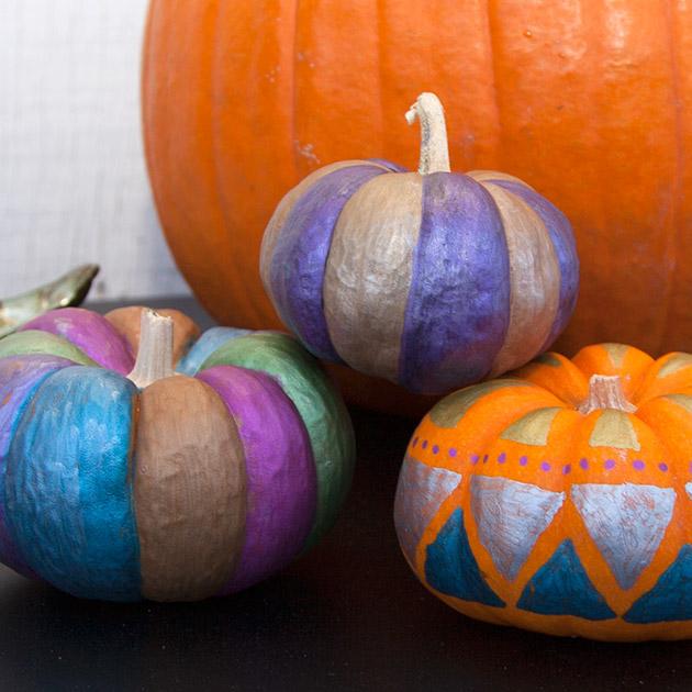 Bic Mark-it Painted Pumpkins on Trinkets in Bloom