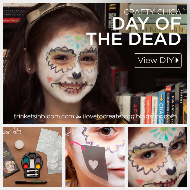 Crafty Chica Day of the Dead Makeup Tutorial