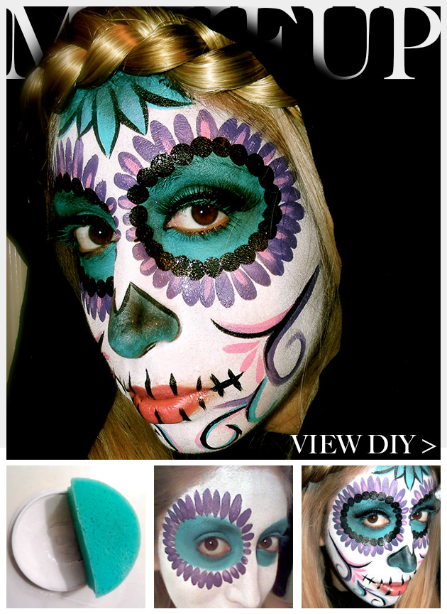 Day of the Dead Makeup tutorial by Trinkets in Bloom