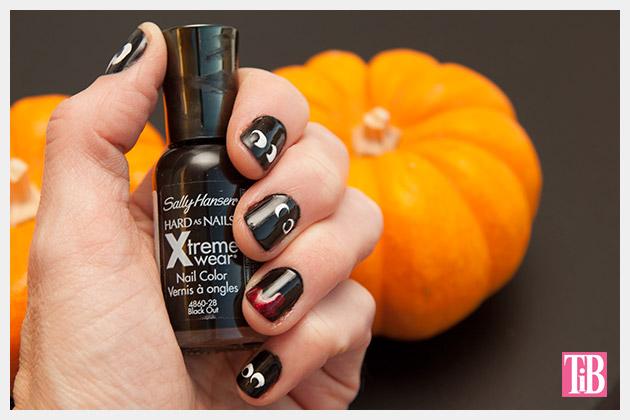 Halloween Nails DIY on Trinkets in Bloom