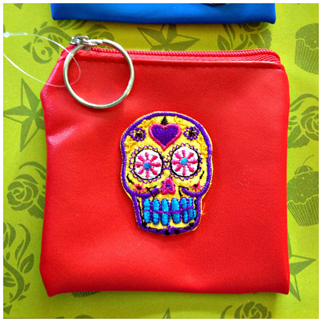 Sugar Skull Coin Purses by Dollar Store Craft
