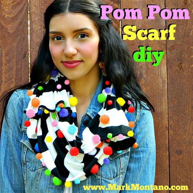 Pom Pom Scarf DIY by Mark Montano