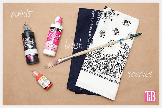 DIY Painted Scarves Supplies