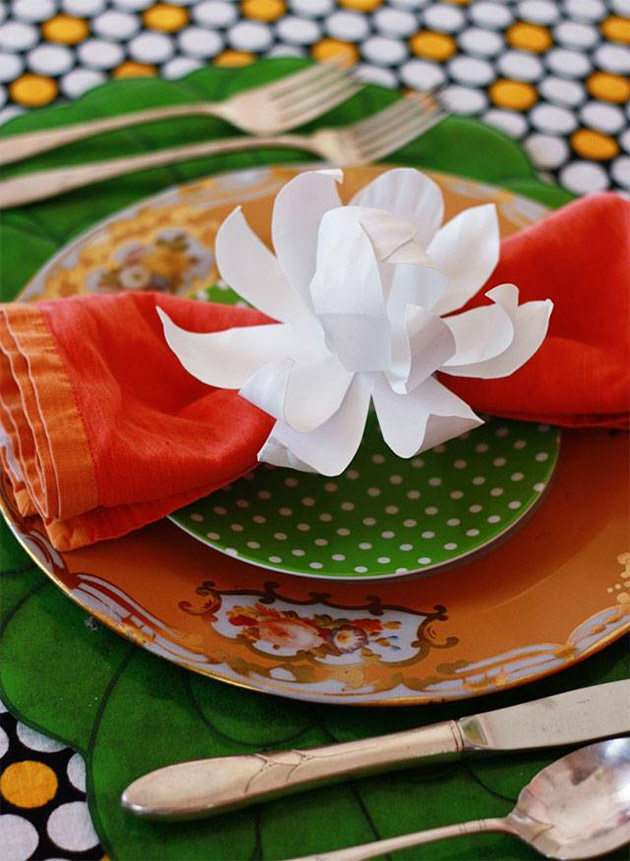 Friday Flowers: Paper Plate Magnolias by Aunt Peaches