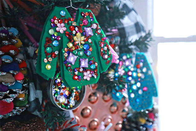 Ugly Christmas Sweater Ornaments by Aunt Peaches