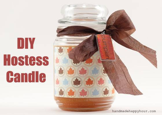 DIY Hostess Candle by Cathie Filian