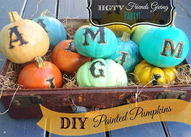 DIY Painted Pumpkins by Debi Beard