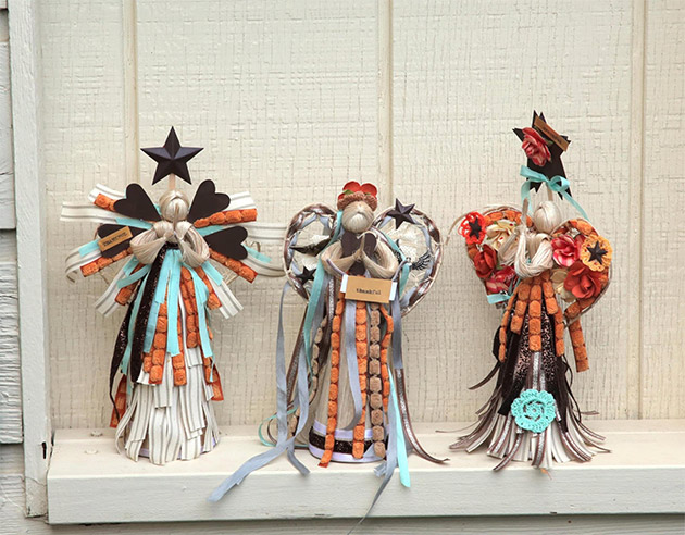 Altered Art Handmade Angels by Heather Mann