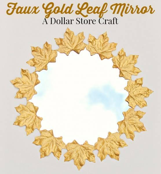 Faux Gold Leaf Mirror by Heather Mann