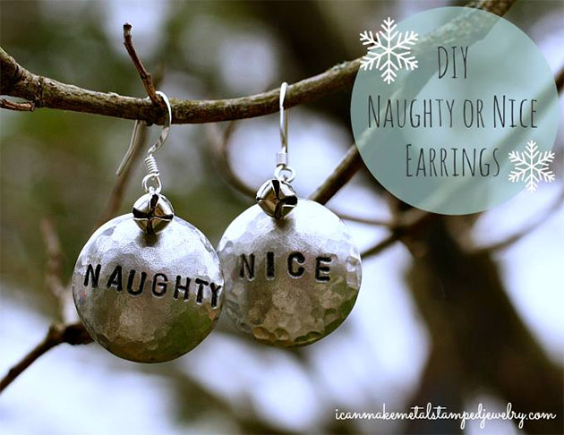 DIY Naughty or Nice Earrings by Margot Potter