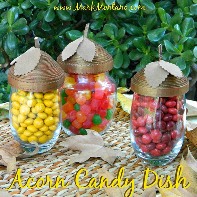 Acorn Candy Dish DIY by Mark Montano
