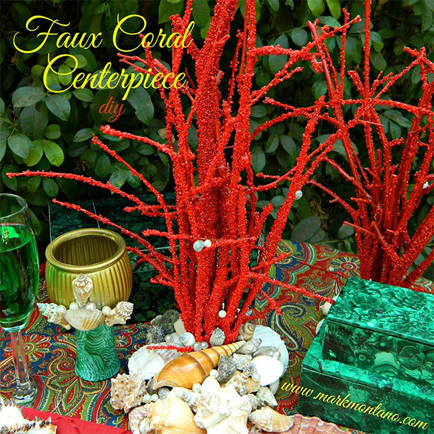 Faux Coral Centerpiece DIY by Mark Montano