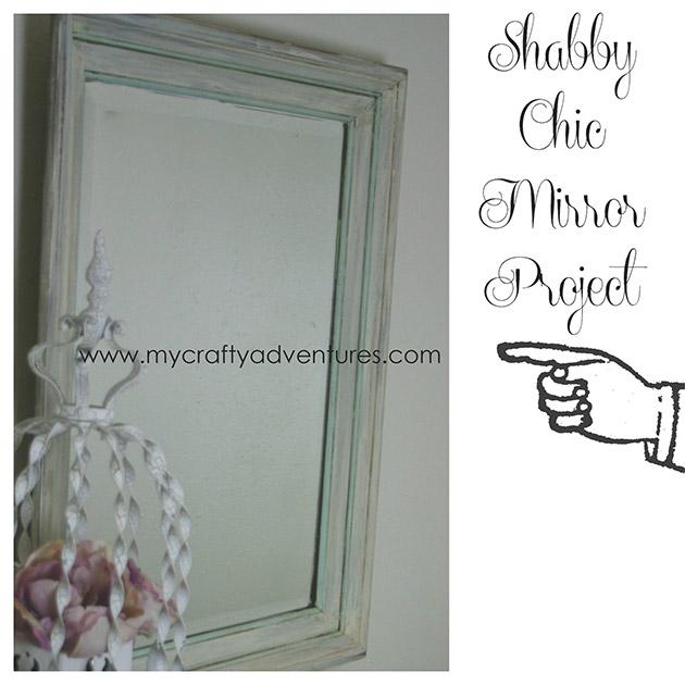 Shabby Chic Mirror Project by Stephenie Hamen
