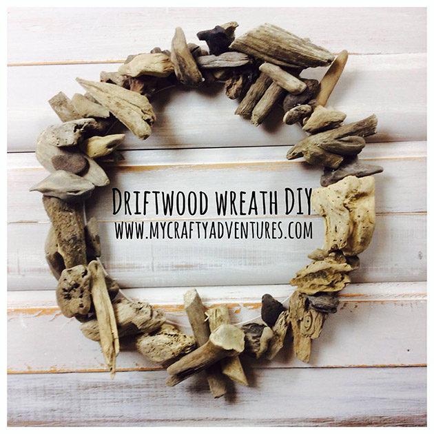 Driftwood Wreath DIY by My Crafty Adventures