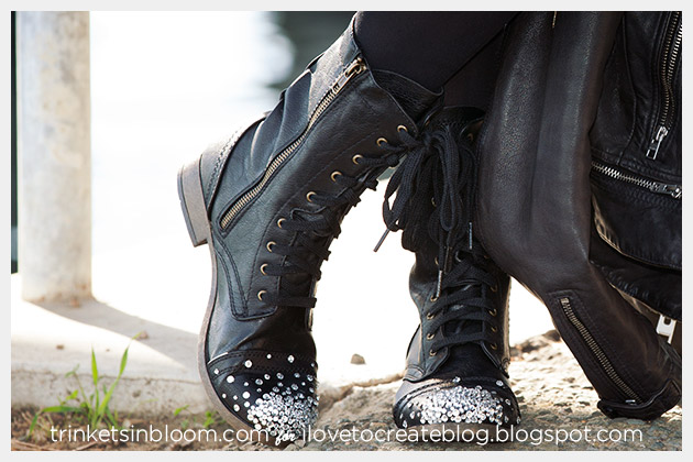 DIY Crystal Boots by Trinkets in Bloom