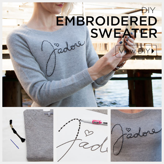 DIY Embroidered Sweater Feature by Trinkets in Bloom