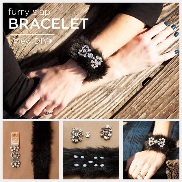 Furry Slap Bracelet DIY by Trinkets in Bloom