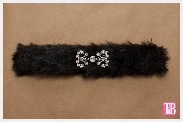 Furry Slap Bracelet DIY Finished