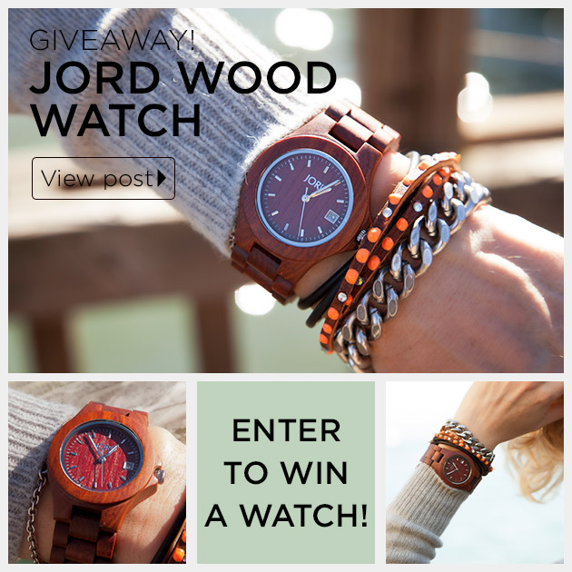 Jord Wood Watch Giveaway on Trinkets in Bloom