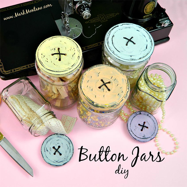 Button Lid Jars DIY by Mark Montano