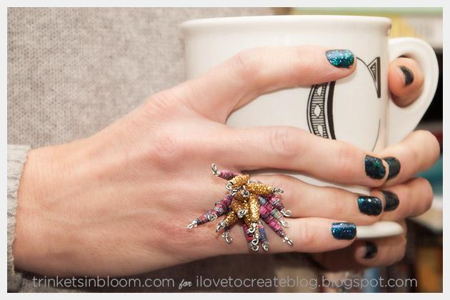 DIY Paper Bead Ring