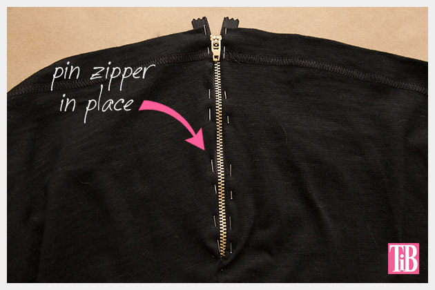 Skull Tunic with Zippers DIY Pin Zipper