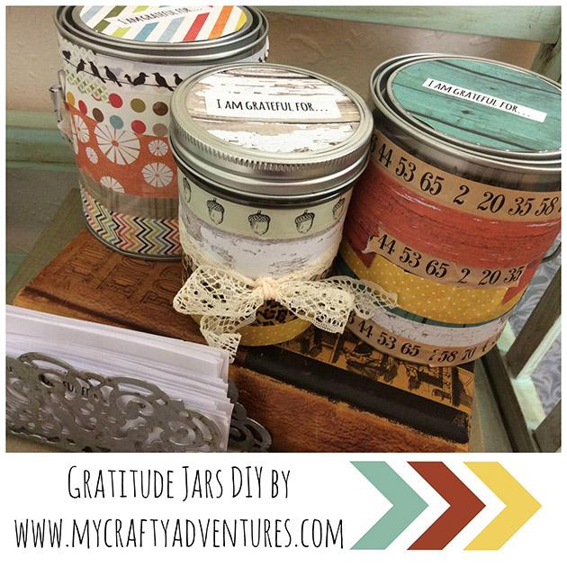 Gratitude Jars DIY by My Crafty Adventures