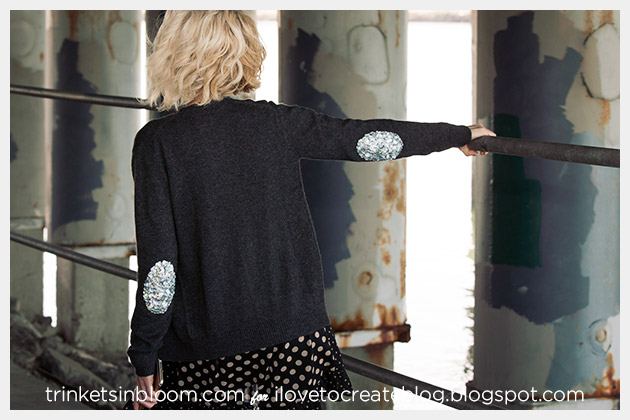Sweater with Sequin Elbows DIY Photo1