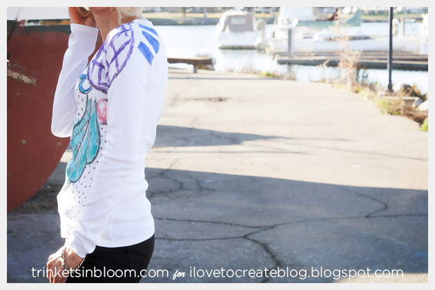 Abstract T-Shirt with Fabric Markers Back View