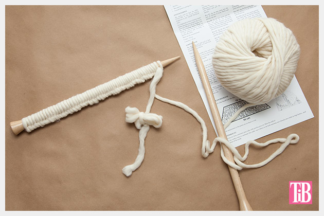 We Are Knitters NYC Collar Kit Cast On