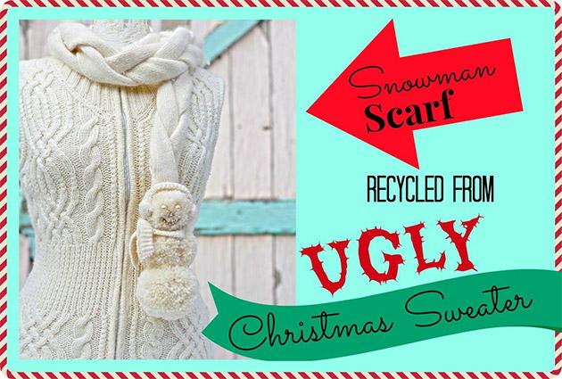 Snowman Scarf by Debi Beard