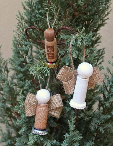 Cork Angel Ornaments by Heather Mann