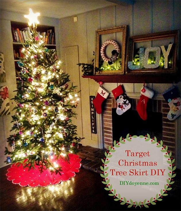 Target Christmas Tree Skirt DIY by Margot Potter