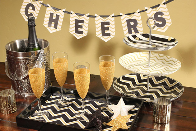 Easy Glam Party Decor by Cathie and Steve