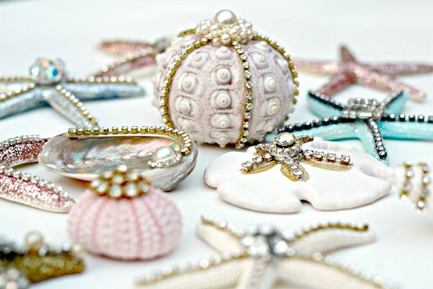 DIY Seashell Christmas Ornaments by Debi's Design Diary