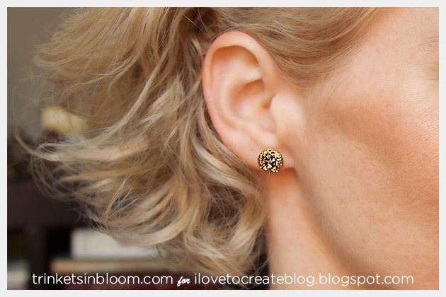 DIY Glitter Earrings by Trinkets in Bloom
