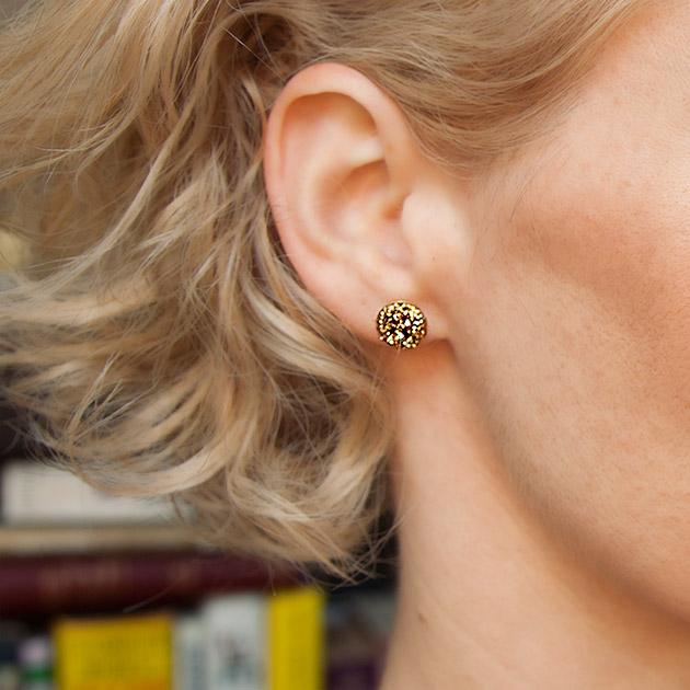DIY Glitter Earrings tutorial