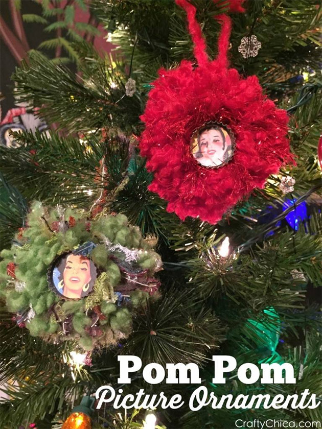 Pom Pom Christmas Ornaments by Crafty Chica