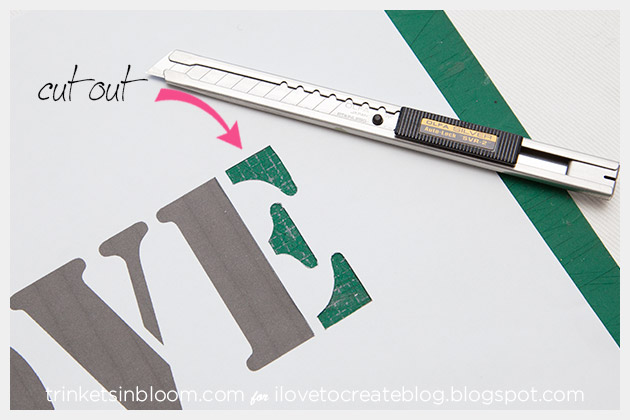 DIY Love Clutch Cutting Stencil