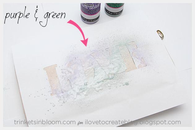 DIY Love Clutch Colors Purple & Green