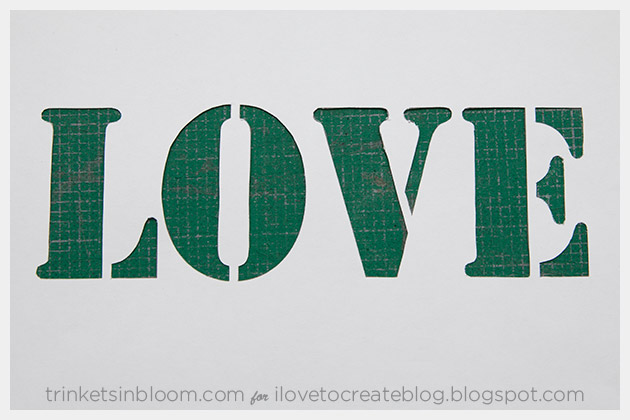 DIY Love Clutch Stencil Cut