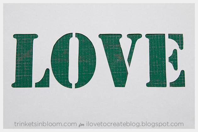 DIY Love Clutch Stencil Cut