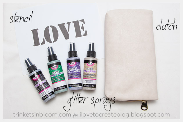 DIY Love Clutch Supplies