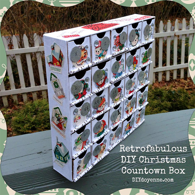 DIY Christmas Countdown Calendar by DIY Doyenne