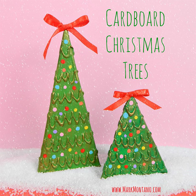 Cardboard Christmas Trees by Mark Montano