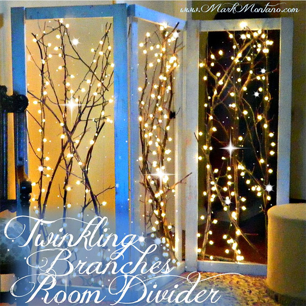Twinkling Branches Room Divider by Mark Montano