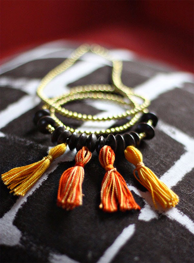 5 Minute Tassel Necklaces by Aunt Peaches