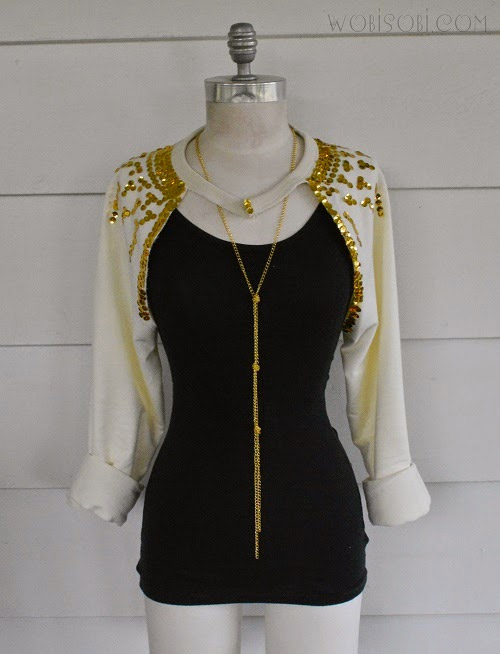 Sweatshirt Sequin Bolero by Wobisobi for i Love To Create