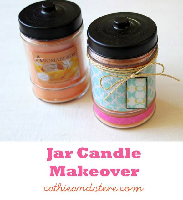 Jar Candle Makeover by Cathie and Steve