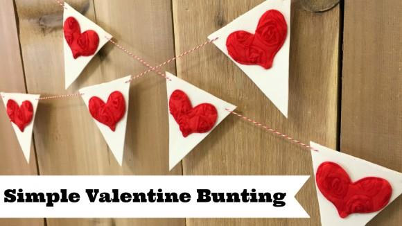 Simple Valentine Bunting by Dollar Store Crafts